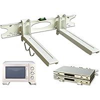DRALL INSTRUMENTS Soporte Universal de Pared Soporte de Montaje en microondas Altavoz Cab Bluray Media Player Modelo Blanco: H75W