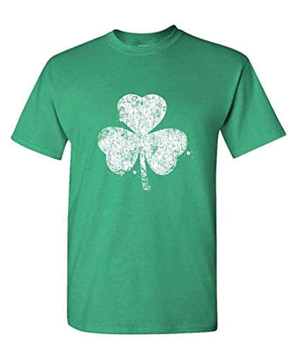 Shamrock Distressed st Paddys Day Shamrock - Mens Cotton T-Shirt S (Zorn Kostüm Männer)