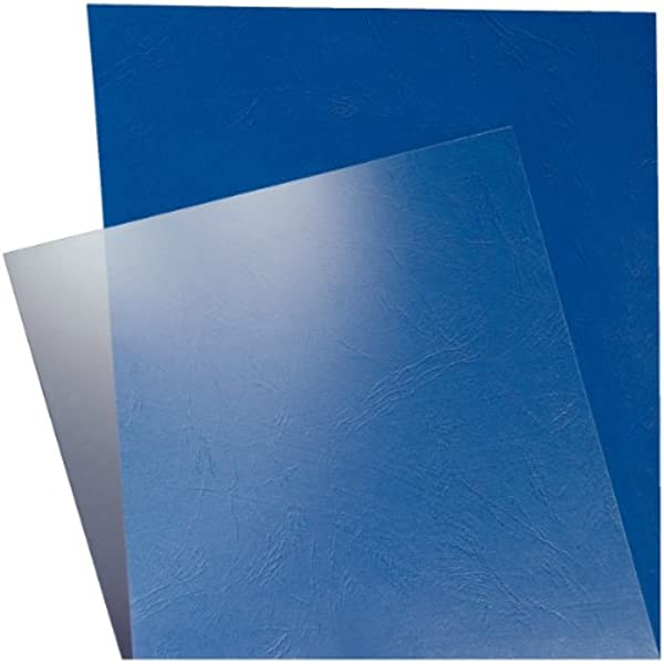 transparent 0.18 mm Pavo Einbanddeckel-Lederoptik DIN A4 DIN A4 100-er Pack dunkelblau /& Peach PB100-06 Deckbl/ätter 250 g//m/² 100 St/ück
