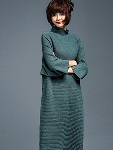 MatchLife Femme Pull-over Jumper Chandail Pull Robe Style7-Dark Green