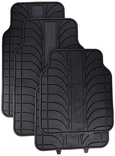 sparco-corsa-spc1913gr-jeu-de-4-tapis-sparco-noirs-100-latex-avec-bande-grise