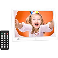 Digital Photo Frame, 12 inch HD LCD Video Digital Picture Frame Commercial Advertising Machine Human Sensor Video Player With Remote Control
