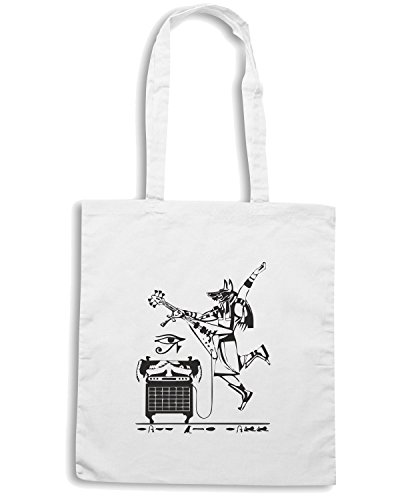 T-Shirtshock - Borsa Shopping FUN0124 05 27 2012 Rock Like Egyptian T SHIRT det Bianco
