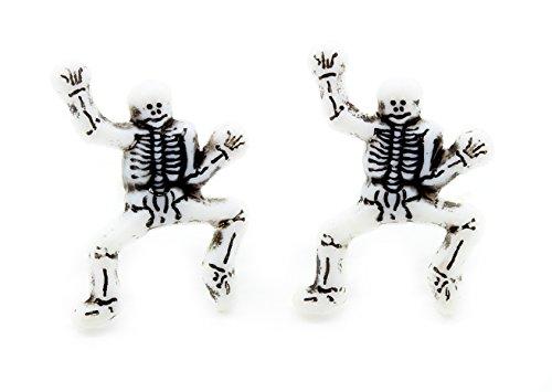 k or Treat Funny Knochen Skelett Ohrstecker Ohrringe mit GRATIS Geschenkbox (Weibliche Skelett Kostüm)