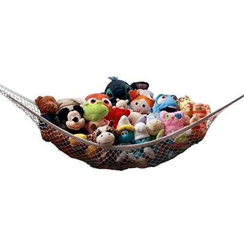 ZJstyle® Qualitäts-Stofftier der Hängematte mit 3 Haken Toy Storage Organizer - Deluxe Toy Hammock Net für die Organisation Ihres Kindes Plüsch Tier / Puppe / Spielzeug, Spielzeug Hammock Net (120x90x90cm)