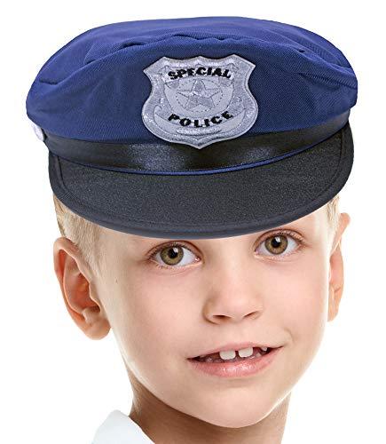 Kinder Special Police Mütze zum Polizisten Kostüm (Polizisten Kostüm Kinder)