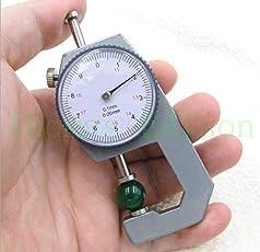0.1mm Pearl & Diamond Gauge Precision Dial Thickness Gauge Scale Meter Tool Pocket 0-20mm Measurement New