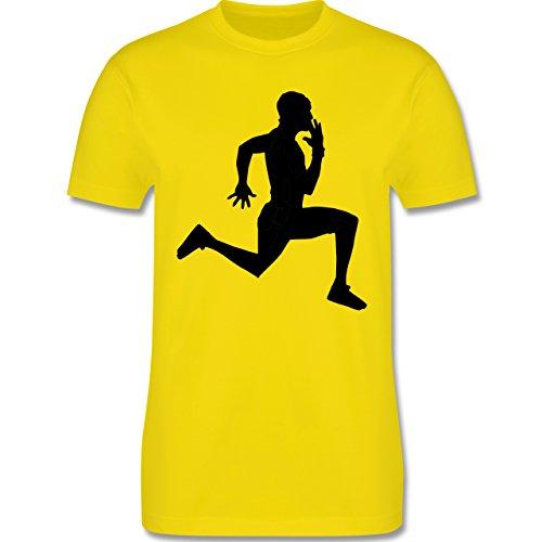 Laufsport - Läufer - Herren Premium T-Shirt Lemon Gelb