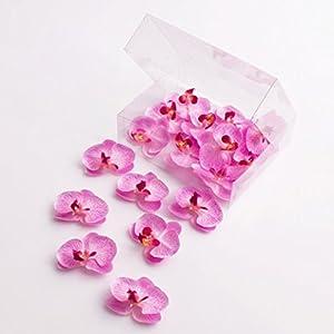 artplants.de Mini Flores de orquídea phalaenopsis, Rosa, 18 Unidades en la Caja – Flores Artificiales – Flores…