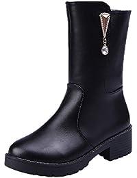 Amazon.it  francesine donna con tacco - Stivali   Scarpe da donna ... a8e6fa6d893