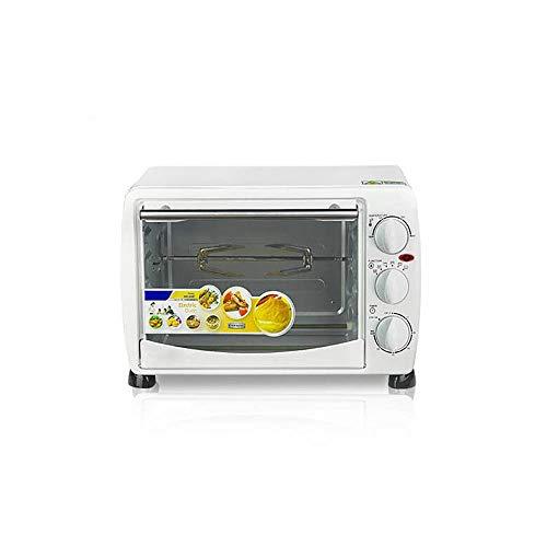 @Mu Mini Horno de 20L, Cocina y Parrilla con Parrilla giratoria de 360 ° Control de Temperatura y Temporizador Ajustables, Accesorios incluidos, adecuados para 4-5 Personas
