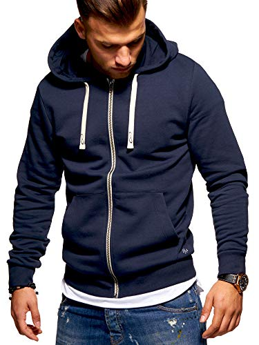 JACK & JONES Herren Sweatjacke Hoodie (Large, Total Eclipse)