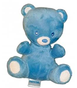 Doudou peluche OURS bleu NESTLE 20 cm