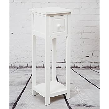 This Item Telephone Bedside Table With Drawer White