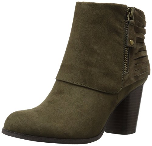 Madden Girl Women's Destory Ankle Bootie, Olive Fabric, 8 M US image
