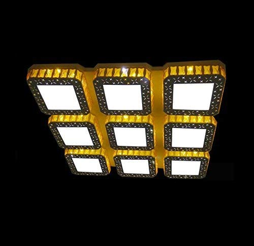 OYC Lamps of Ceiling, Crystal Creative Led Restaurant Dome Light Rectangle House Price Child Clothing Store Lighting Warehouse K9 Crystal Square Dome Light Gold Decor Terrestrial Head 4-9 Fashion,82
