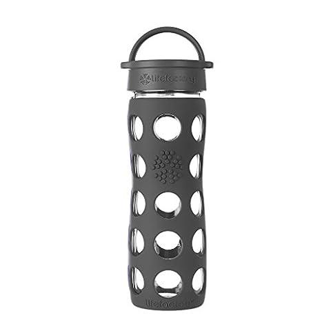 Lifefactory Bottle with Classic Cap, Glass, Carbon, 16 oz
