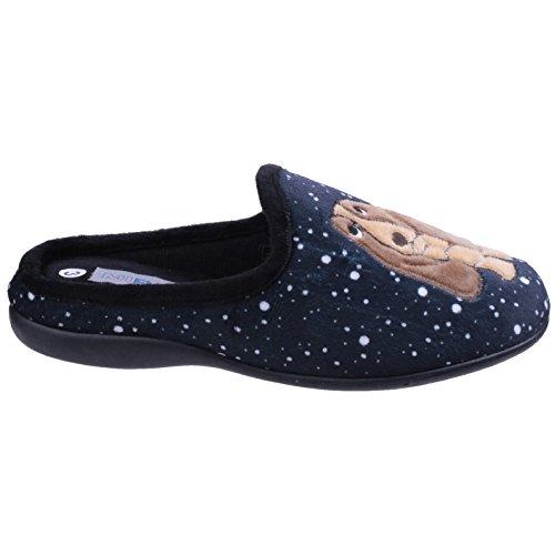 Mirak Fido Slip Mule Pantoufles Femmes Chaussons Fermeture Noir Chaussures On 11x4FqrP