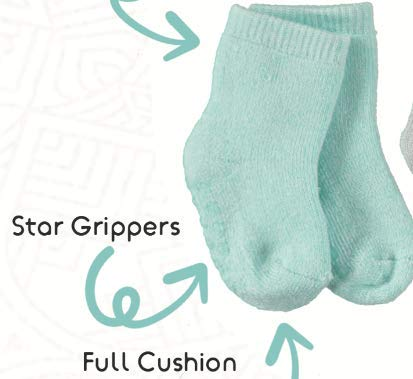 Aden & Anais - Calcetines de algodón peinado para bebé, diseño de estrellas, 6 unidades 4