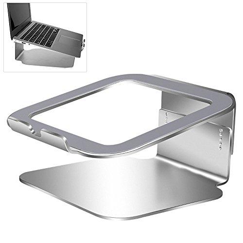 Verstellbarer Laptopständer mit Heat Vent, Silber Aus Aluminiumlegierung, Kompatibel mit MacBook, MacBook Pro / Air, Powerbook und allen Laptops bis 17 Zoll