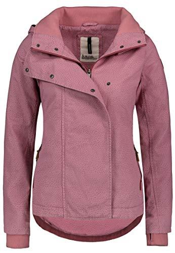 Sublevel Damen Übergangs-Jacke mit Allover-Print tailliert Dark-Rose L Rose Print Jacke