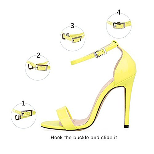 Damenschuhe Open Toe Mehrfarbig Sandalen High-Heels Stiletto Riemchen PU Gelb
