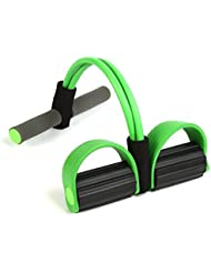 Pushingbest Pull up Rope Expander Elastic Pull Rope for Home Fitness Resistance Bands Foot Pedal Exerciser Bodybuilding Expander Latex Tube Elastic Pull Rope Training Equipment Yoga Crunches Abdomen Waist Arm Leg Tummy Stretching Slimming Pull up Exerciser, Green