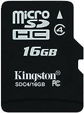 Kingston SDC4/16GB Memoria MicroSDHC senza Adattatore SD, 16 GB, Class 4