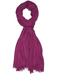 Lorenzo Cana Italian Scarf Pashmina 100% Cashmere Shawl 79'' x 27'' Light Purple 7830711