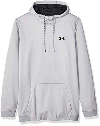 Under Armour Herren Fleece Hoodie, grau(Steel Light Heather /  / Black (035)),L Under Armour-fleece-sweatshirt