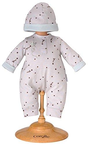 Corolle - Y5461 - Vêtement Poupon 30cm - Mon Premier Corolle - Pyjama Gris Etoile & Bonnet