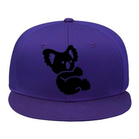 Brim Fitted Cap (Hot mehr Stil Koala _ ONECOLOUR Hip Hop Nabenkappen Sport mit in Frauen-Baumwolle genesim, damen unisex Herren, violett)