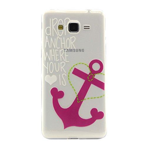 Voguecase® für Apple iphone 5C, Schutzhülle / Case / Cover / Hülle / Ultra Slim Fit TPU Gel Skin (Schwarz Feder 02) + Gratis Universal Eingabestift Pink Anchors