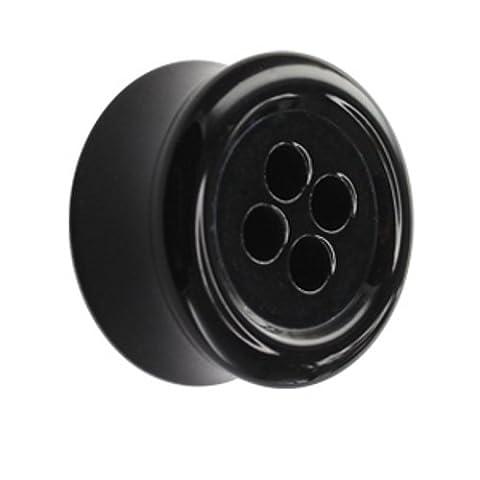 Classic Plug - Knopf - Schwarz 16 mm (Acht Knoten-knopf)