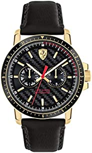 Scuderia Ferrari Mens Analogue Classic Quartz Watch with Leather Strap 0830451