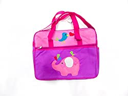 pink elephant patch mother bag