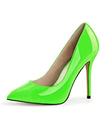 Burlesque PIN UP Green Mary Janes Green HIGH HEELS - Grün Rockabilly S-5715