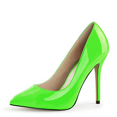 PleaserUSA High Heels Pumps Amuse-20 neon grün Gr.43