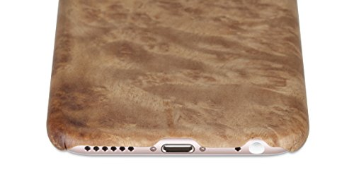 PITAKA iPhone 6 Plus / iPhone 6s plus Étui de case dur Rugged Slim bois naturel pour iPhone 6 Plus / iPhone 6s Plus (5,5 pouces) - Sapele Bois Bois de La Ronce