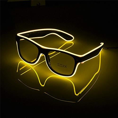 JYYC Blinkende Gläser EL-Draht-LED-Glas-glühende Partei liefert Beleuchtungs-Neuheit-Geschenk-helles Licht-Festival-Partei-Glühen-Sonnenbrille
