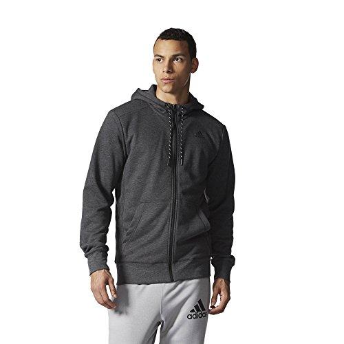 Adidas Felpa Con Cappuccio Da Allenamento Premium Essentials, Colore Grigio, Taglia M