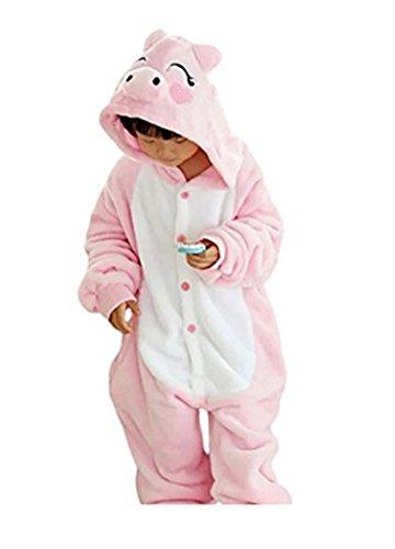 rn Karikatur Tier Pyjama Halloween Karneval Fasching Kostüm Unisex Erwachsene Schlafanzug Jumpsuit Cosplay Schweinchen XL(125-135CM) ()