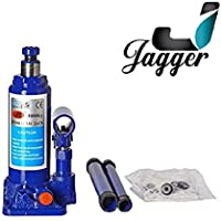 JAGGER Super Heavy Engineering Car universal hydraulic Stabiliser Jack (Blue & Red) (Capacity 3000Kg / 3 ton ), SWIFT, BALENO, I20, I10, HONDA CITY, ALTO, CRETA, BREEZA, VERNA, SCORPIO, XUV, THAR, ALL INDIAN CARS