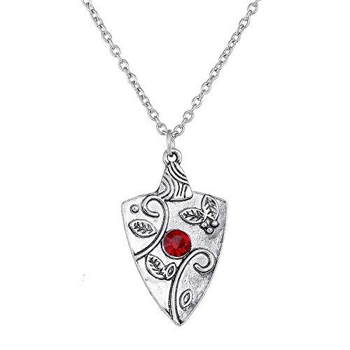 Lureme Vampire Diaries mit Bennett Familie Bonnie Granat Charms der alten Silber Halskette (nl005448)