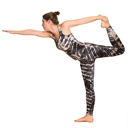 Panasiam® qualitäts Leggings & Tops, aus Naturmaterial, passt M bis L, skinny & stretchy, super wohlfühl Legging N006 zebra2