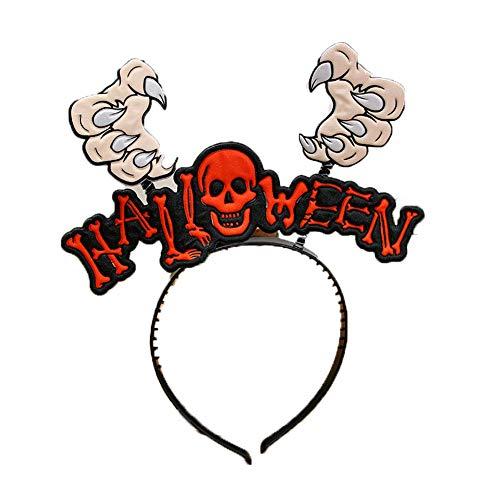 (Hilai 1pcs Shantou Stück Halloween-Stirnband-Kürbis Spinne Kopf prickelnde Bat Hauptschleifen Halloween-Kostüm-Party-Zubehör)