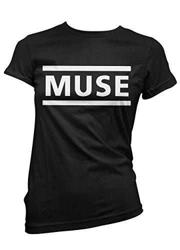 T-shirt Donna Muse - maglietta 100% cotone LaMAGLIERIA, S, Nero