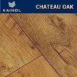KAINDL Chateau Oak Laminate Flooring 8mm V-Groove 2.4m2 Wood Floor Commercial Grade 30yr Guarantee Plus Underlay