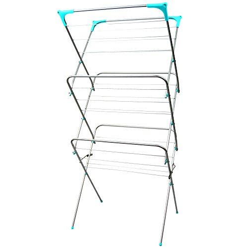 home-vida-3-tier-clothes-airer-indoor-and-outdoor-laundry-drying-rack-14-meters-silver