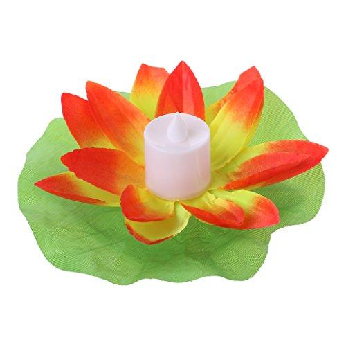 mmende Lotus Blume Lampen auf Wasser Schwimmbad Garten Dekoration Licht ()